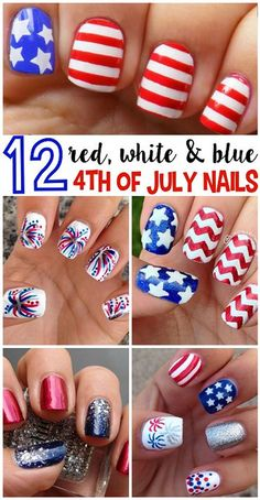 nail art tutorials #4thofjuly #july4th #nail art