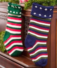 Christmas Stocking Crochet Pattern and Christmas Stocking Knitting Pattern | Red Heart