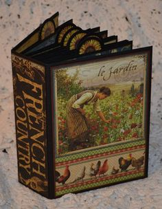 Graphic 45 French Country Album Scrapbook by KatiesWorldSCRAPBOOK