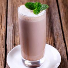 Double Chocolate Mint Smoothie - 1 scoop chocolate protein powder, 1 cup chocolate almond milk, 2 Tbsp walnuts, 2 Tbsp unsweetened cocoa powder, 1 Tbsp cacao nibs 2 mint leaves