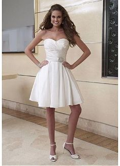 Fabulous Taffeta Sweetheart Neckline 2 In 1 Wedding Dresses With Beads- <3
