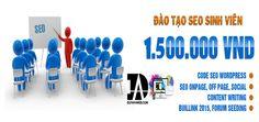 Khóa đào tạo seo chuyên nghiệp cho sinh viên giá rẻ và tốt nhất chỉ 1900K. Hiệu quả với 96% học viên tốt nghiệp có việc làm và tự kinh doanh
