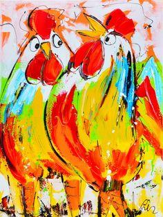 AaartNL.nl - Bekijk het schilderij 'Vriendinnen' van Liz