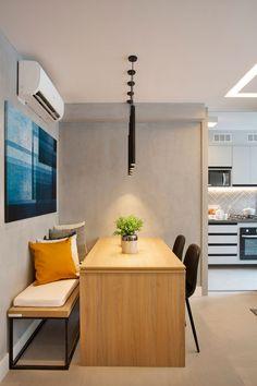 home library design Home Room Design, Condo Interior, Home Interior Design, House Interior, Apartment Design, Interior, House Rooms, Dining Room Small, Small Apartment Interior