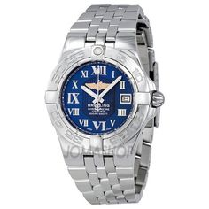 Breitling Women`s A71340L2/C778SS Galactic 30 Blue Dial Watch $2,942.39