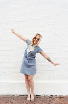 DIY denim dress (without a pattern)