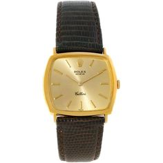 Pre-Owned Rolex Cellini Vintage 18k Yellow Gold Champagne Dial Watch... ($2,300) ❤ liked on Polyvore featuring jewelry, watches, champagne, 18 karat gold jewelry, vintage gold jewelry, colorful watches, 18k gold watches and gold watches