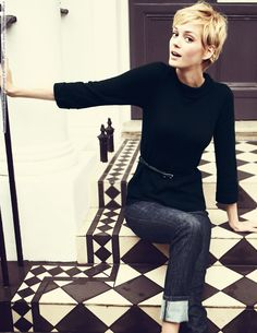 Noreen Carmody for Boden catalogue (Fall-Winter 2012) photo shoot gorgeous pixie cut