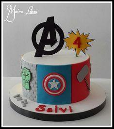 Avengers - Cake by Maira Liboa - Visit to grab an amazing super hero shirt now on sale! Avenger Party, Avenger Cake, Avengers Birthday Cakes, Superhero Birthday Cake, Cake Birthday, 4th Birthday, Pastel Avengers, Bolo Tumblr, Marvel Cake