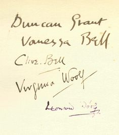 proustitute:    (via senseofchampagnechic)    Signatures of major members of the Bloomsbury Group