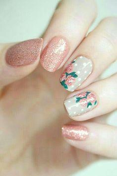 nails, nail art, and pink εικόνα