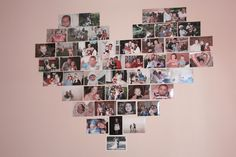 Mod Memento: The Blog: Heart-Shaped Photo Collage inspired by Pinterest