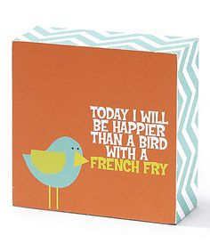 This Bird 'French Fry' Box Sign is perfect! #zulilyfinds
