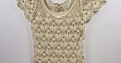 adult blouse crocheted