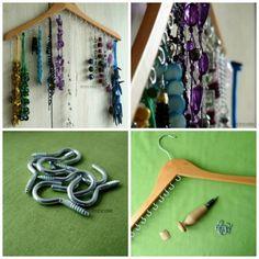 DIY-  Incredible Jewelry Hanger - http://www.amazinginteriordesign.com/diy-incredible-jewelry-hanger/