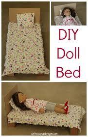 dolls bed diy cardboard - Google Search American Girl Doll Bed, American Girl Crafts, American Doll Clothes, American Dolls, Ag Dolls, Girl Dolls, Barbie Doll, American Girl Accessories, Doll Accessories