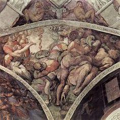 Michelangelo Buonarroti 024 - Gallery of Sistine Chapel ceiling - Wikipedia, the free encyclopedia Michelangelo, Renaissance Men, Italian Renaissance, Miguel Angel, Sistine Chapel Ceiling, Italian Sculptors, Old Master, Western Art, Abstract Landscape