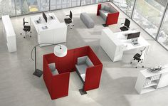 New ideas of office furinture for communications and teamwork.