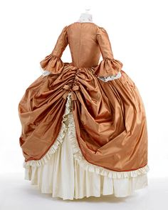Returning from my first trip to France, I was inspired to make a costume gown to honor one of my favorite historical figures, Marie Antoinette.Before I began designing the gown, I did intensive research on Rococo fashion from the Pulling my favo… 18th Century Dress, 18th Century Costume, 18th Century Clothing, 18th Century Fashion, Rococo Fashion, Victorian Fashion, Rococo Dress, Vintage Gowns, Marie Antoinette