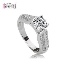 Teemi European style 6mm 0.75ct Cubic Zirconia Diamond Engagement Ring, View Diamond Engagement Ring , Teemi Product Details from Yiwu Teemi Jewelry Factory on Alibaba.com