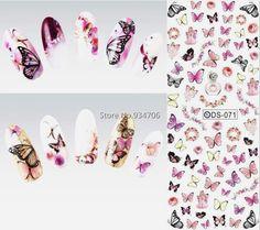 DS071 2017 Nail Design Water Transfer Nails Art Sticker Colorful Butterfly Nail Wraps Sticker Watermark Fingernails Decals  http://www.dealofthedaytips.com/products/ds071-2017-nail-design-water-transfer-nails-art-sticker-colorful-butterfly-nail-wraps-sticker-watermark-fingernails-decals/