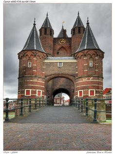 "Haarlem Town Gate ""The Amsterdamse Poort"". The Historic Entry into Haarlem. Following the 'Amsterdamse Vaart"" from Amsterdam to Haarlem!"
