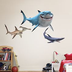Finding Nemo Sharks Fathead Wall Decal