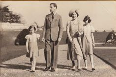 Here's the Queen Mother and King George VI with their daughters Margaret Rose and Elizabeth -- who has celebrated her Diamond Jubilee, 60 years on the throne. POSTCARD unused and undated. George Vi, George The Sixth, Margaret Rose, Princess Margaret, Windsor, Queen Elizabeth Rose, Queen Victoria Descendants, English Monarchs, Queen Mother
