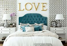 turquoise tufted headboard