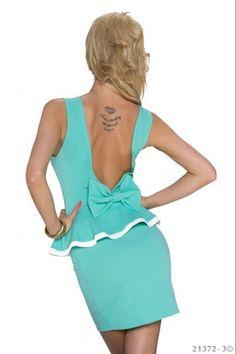Μίνι φόρεμα με βολάν - Πράσινο