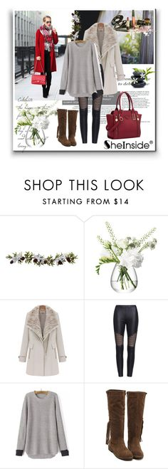"""""""Shein 10"""" by aida-1999 ❤ liked on Polyvore featuring Nearly Natural, LSA International, women's clothing, women's fashion, women, female, woman, misses and juniors"""
