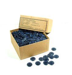 Vintage 1940s Blue Melamine Buttons  Richard by treazureddesignz, $18.95