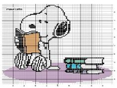 lots of free Snoopy cross stitch patterns