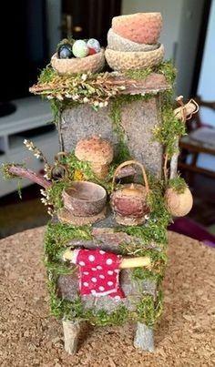 Easy Diy Fairy Garden Furniture Design Ideas 33 is part of Garden furniture Yards - Easy Diy Fairy Garden Furniture Design Ideas 33 Garden Furniture Design, Fairy Garden Furniture, Garden Design, Fairy Tree Houses, Fairy Garden Houses, Gnome Garden, Fairies Garden, Fairy Crafts, Garden Crafts
