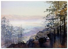 Shadows of the San Jacinto by Thomas W. Schaller Watercolor ~ 22 inches x 30 inches