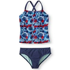 7c180fda14018 Cross-back Tankini Swimsuit (Little Girls