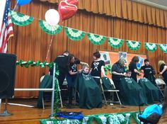 Decorate The Shaving Stage Area! Charity Fund, Childhood Cancer, Event Ideas, Shaving, Haircuts, Foundation, Stage, Kids, Decor