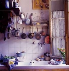 Love rustic kitchens especially when in our dream house in France.