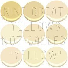 9 of the 10 most popular Benjamin Moore Yellows Concord Ivory desert Tan Hemplewhite Ivory Mannequin Cream Montgomery White Philadelph