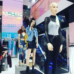 """MISSGUIDED, Westfield Stratford Shopping Centre, Stratford, UK, """"FASHION... Hell Yes..."""", photo by Saffron Silva, pinned by Ton van der Veers"""
