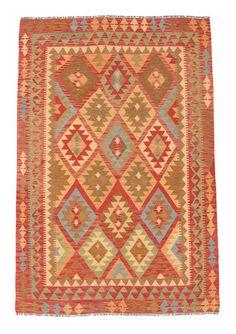 Kelim Afghan Old style-matto 142x208