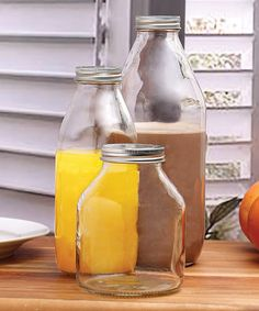 Another great find on #zulily! Emiline Glass Three-Piece Bottle Set #zulilyfinds