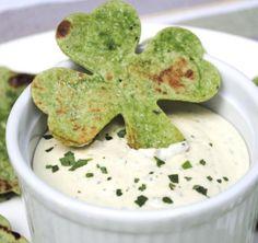 Click Pic for  50 St Patricks Day Food Ideas - Shamrock Pita Chips | St Patricks Day Recipes