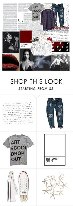 """☾ don't pin it all on me"" by thundxrstorms ❤ liked on Polyvore featuring OneTeaspoon, COPY, Converse and GET LOST"