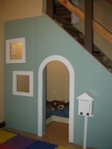 playhouse under the stairs- for the basement in the new house @ Home Improvement Ideas