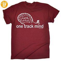Ride Like The Wind Herren T-Shirt, Slogan Rot Maroon - Shirts mit spruch (*Partner-Link)