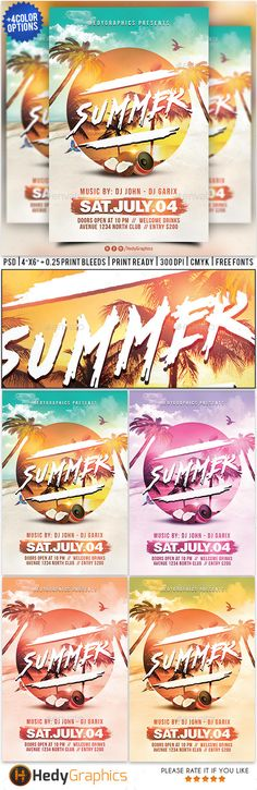 Summer Flyer  Flyer Template Club Flyers And Party Flyer