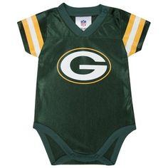 Green Bay Packers Gerber Infant Dazzle Bodysuit Creeper – Green
