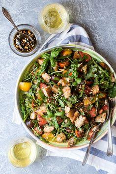 Panzanella salad is