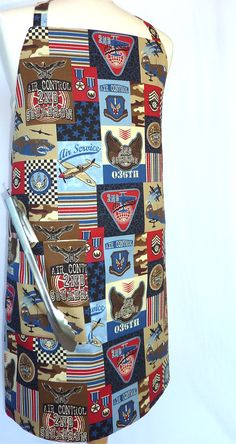 Fighter Pilot Mens Apron with pocket  by 4EverydayEmbellished, $33.00